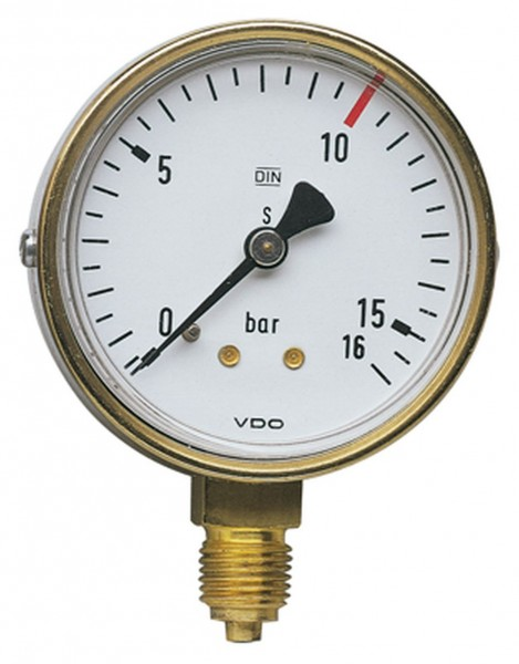 Manometer 63 mm G 1/4 unten