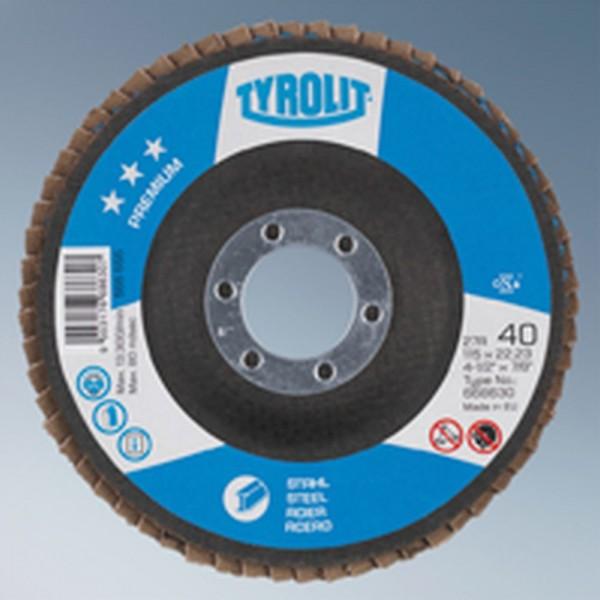 Tyrolit Fächerscheibe Premium Stahl Form 27 A