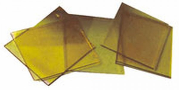 Deckglas gelb spritzerabweisend