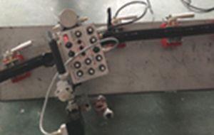 Flexible Gummischiene mit Magnethalterung